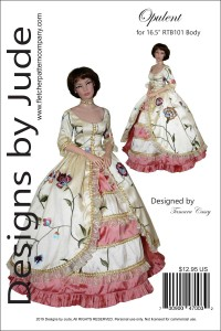 "Opulent Gown for 16.5"" RTB101 Body Dolls Printed"