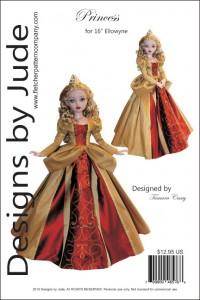 "Princess Pattern for 16"" Ellowyne PDF"