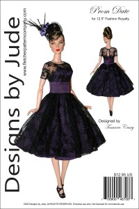 """Prom Date for 12.5"""" FR East 59th Dolls Printed"""