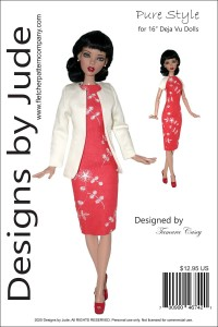 """Pure Style for 16"""" Deja Vu Dolls Printed"""