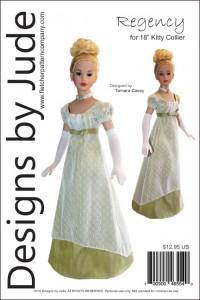 """Regency Dress Pattern for 18"""" Kitty Collier PDF"""