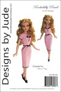 """Rockabilly Pencil for 16"""" Ellowyne dolls PDF"""