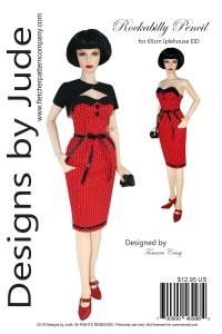 Rockabilly Dress for 65cm Iplehouse 1/3 EID Dolls Printed
