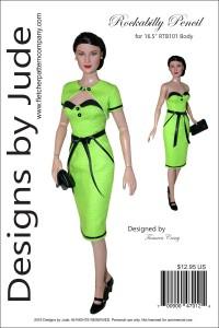 """Rockabilly for 16.5"""" RTB101 Body Dolls Printed"""