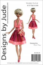"Rodeo Drive for 16"" Deja Vu Dolls Printed"