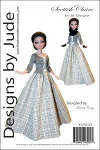 """Scottish Claire Pattern for 16"""" Ellowyne PDF"""