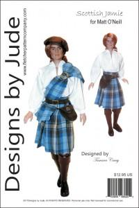 "Scottish Jamie Outlander Pattern for 17.5"" Matt O'Neill Printed"
