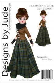 "Scottish Claire for 21"" Cissy Dolls Printed"