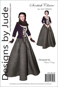 """Scottish Claire for 16.5"""" RTB101 Body Dolls Printed"""