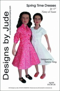 Spring Time Dresses for Nancy and Susan Printed