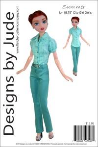"Summer for 15.75"" City Girl Dolls Printed"
