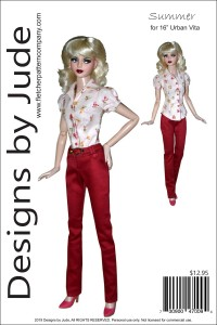 "Summer for 16"" Urban Vita Dolls Printed"