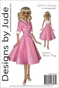 "1950's Swing for 16"" Kingdom Dolls Printed"