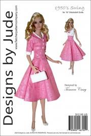 "1950's Swing for 16"" Modsdoll Dolls PDF"