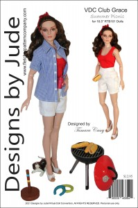 Summer Picnic for RTB101 Grace Dolls Printed