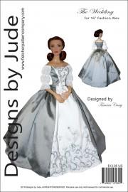 """Outlander Claire Wedding Dress for 16"""" Alex Printed"""