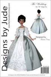 """Outlander Claire Wedding Dress for 16"""" Deja Vu PDF"""