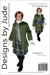 "Outlander Wedding Jamie for 19"" Male Dolls Printed"