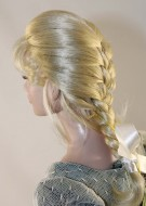 Amber Blonde Braid Wig size 7-8, American Model