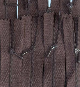 """4 1/2"""" September Brown Zipper"""