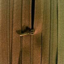 "4 1/2"" Chocolate Brown Zipper"