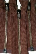 "4 1/2"" Chocolate Brown Separating Zipper"