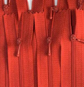 """12"""" Burnt Orange Zipper"""