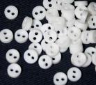 1/8 Micro Mini White Buttons