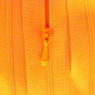 """4 1/2"""" Orange Zipper"""