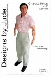 "Casual Male for 17"" Super Hero Dolls PDF"