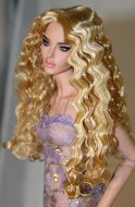 Christine, Synthetic Mohair Wig, Size 4, Golden Strawberry Blonde