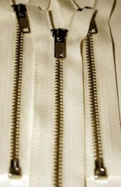 "4 1/2"" Creme Separating Zipper"