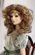 Strawberry Blonde Curly Wig w Bangs size 7-8 American Model Tonner - Dorian