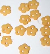 "1/4"" Yellow Flower Shaped Buttons"
