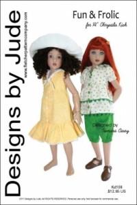 "Fun & Frolic for 14"" Kish Dolls Printed"