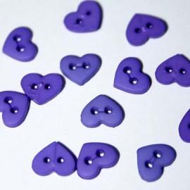 "1/4"" Dark Purple Heart Shaped Buttons"