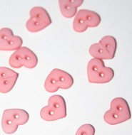 "1/4"" Rose Heart Shaped Buttons"
