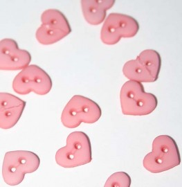 """1/4"""" Rose Heart Shaped Buttons"""