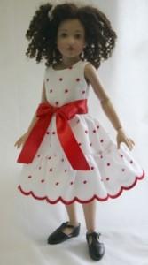 "Sleeveless Dress for 14"" Kish Printed Pattern"