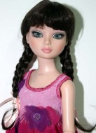 LaBelle, Black Wig with Braids and Bangs, Size 6-7