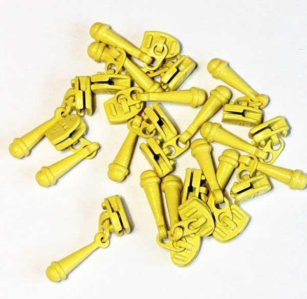 Lemon Yellow Zipper Pull