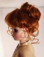 "Carrot Updo Wig w Bangs size 8-9, Cissy & 21"" Madame Alexander- Lydia"