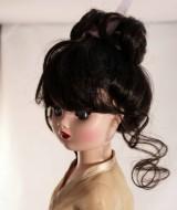 "Dark BrownUpdo Wig w Bangs size 8-9, Cissy & 21"" Madame Alexander- Lydia"