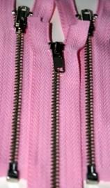 "4 1/2"" Medium Pink Separating Zipper"
