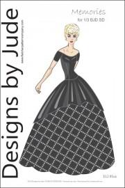 Memories Dress Pattern for 1/3 BJD SD PDF