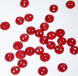 """1/8"""" Micro Mini Red Buttons"""