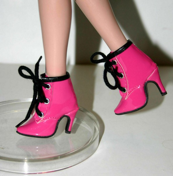 My Golly 50mm Patent Pink Ankle Boots for Ellowyne