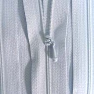 "4 1/2"" Pastel Blue Zipper"