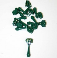 Dark Green Zipper Pull