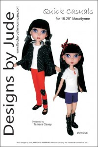 """Quick Casuals for 15.25"""" Maudlynne Doll PDF"""